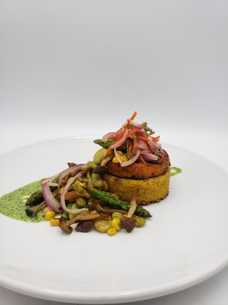 Ancient Grain Cake con Verduras (GF, V+)